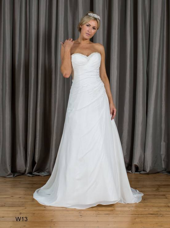 Aline Sweetheart Beading Chiffon Wedding Dress W13