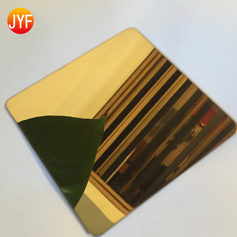 AISI SUS ASTM 316 Decorative 2B Etching Finished titanium gold Stainless Steel Sheet