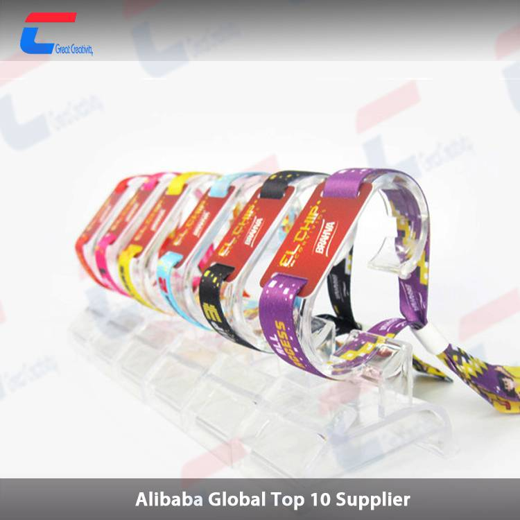 13.56mhz pvcrfidwoven wristbandbracelet for events ticket