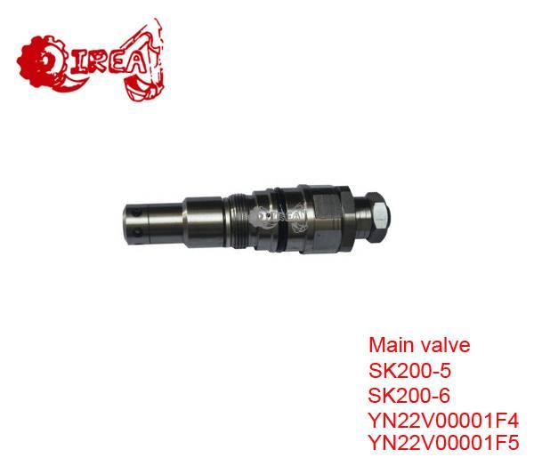 pressure relief valve YN22V00001F4 0719308 YN22V00001F5 for excavator SK200-5/6