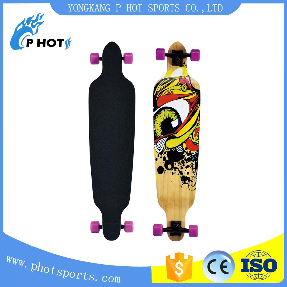 40 inch long board 6 layer Canadian Maple + 1 layer bamboo skate board off road skateboard