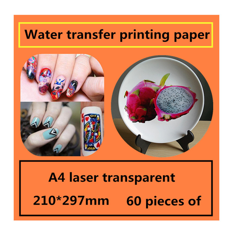 A4 Laser Transparent Water Transfer Printing Paper Stickers