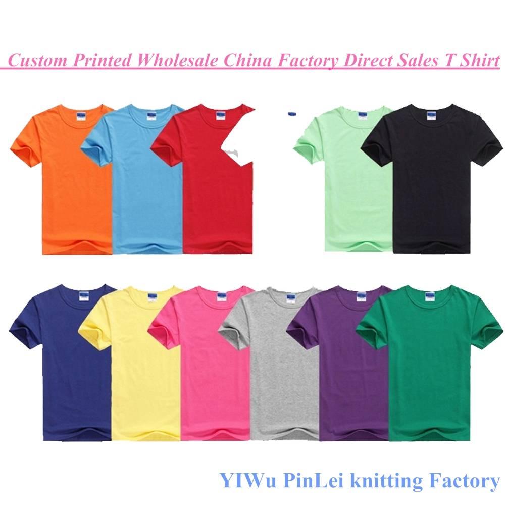 China Wholesale T Shirt Custom 100% Cotton Printing Men T Shirt