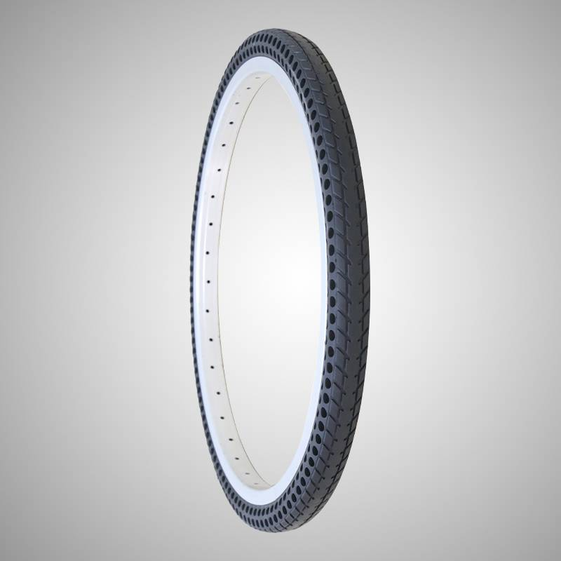 241-3/8 inch solid air free bicycle tire