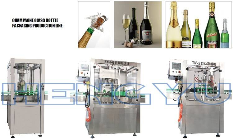 Automatic Champagne/Sparkling Wine Packing Line