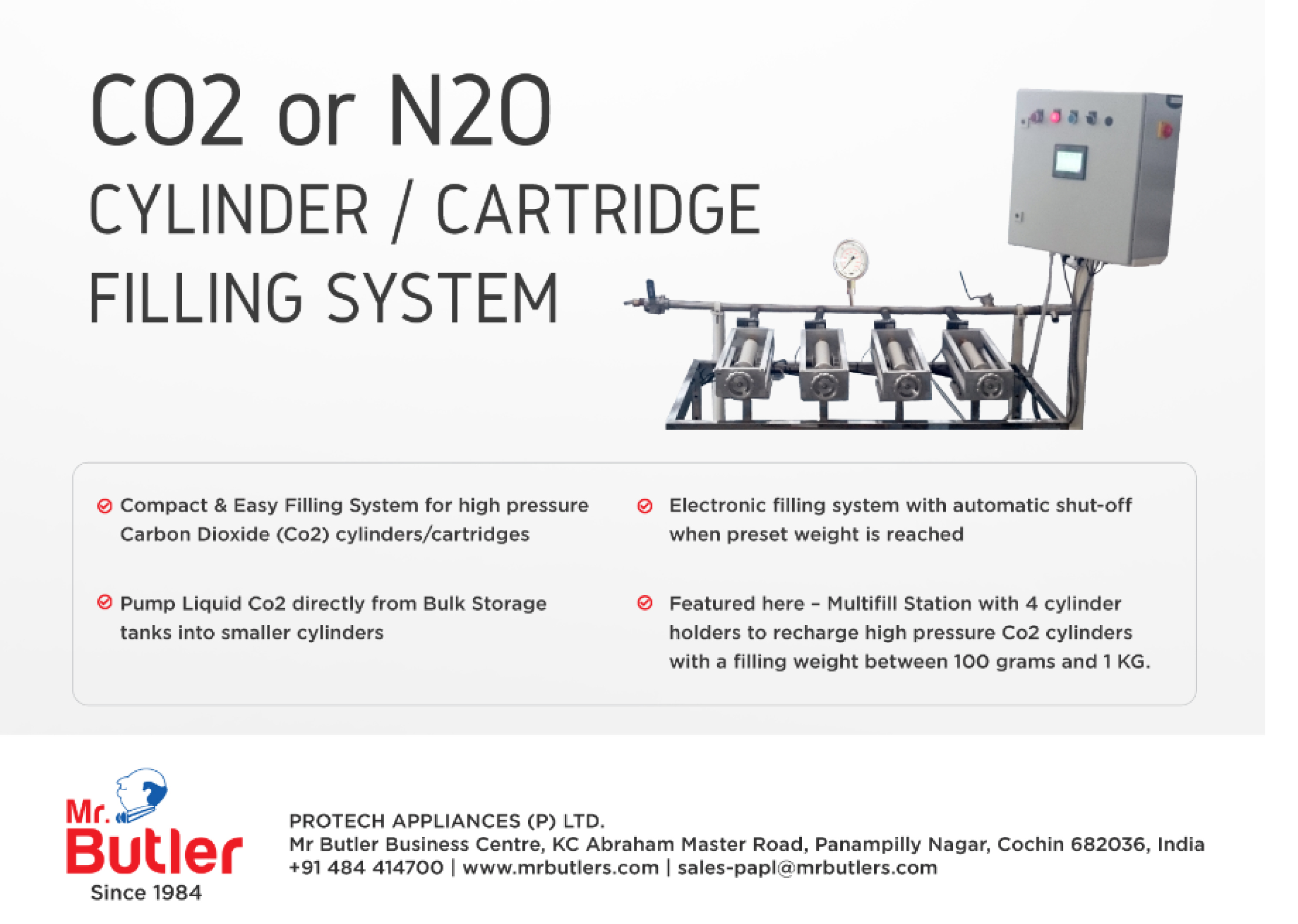 CO2 Gas Multi Refilling Machine