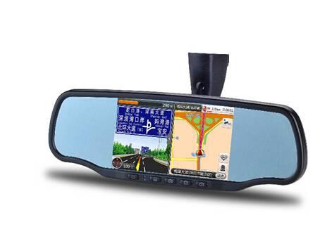 "5""intelligence rearview mirror built in  GPS navigation, Digital Video Recorder, Speed Radar Detecti"