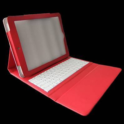 ABS Plastic Wireless Bluetooth Keyboard Leather Case for iPad2