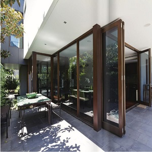 Laminated glass door exterior