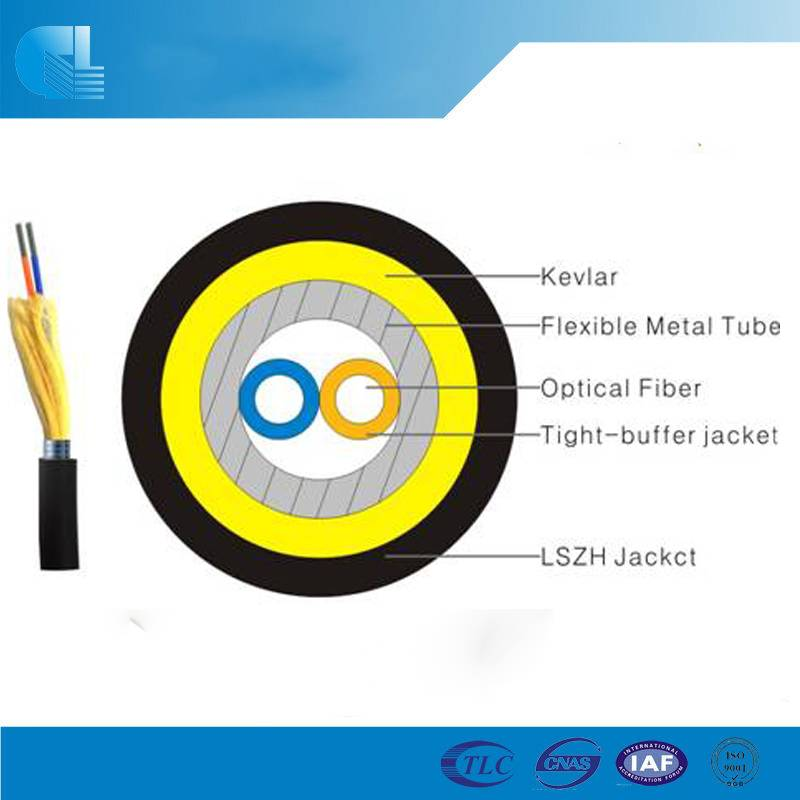 Tactical Fiber Optic Cable with Helical Armored