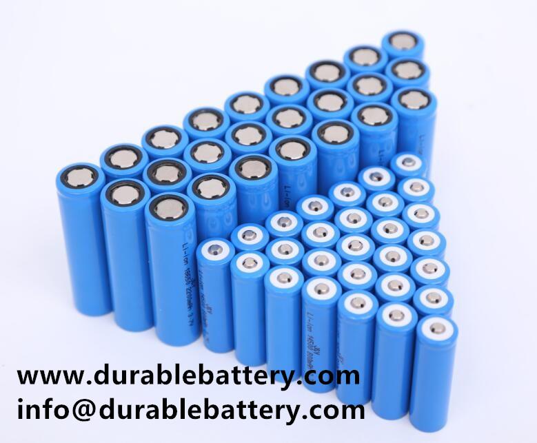 ICR18650 3.7V 18650 Li-ion rechargeable Battery 2000mAh 2200mAh 2400mAh 2600mah 3000mAh cell