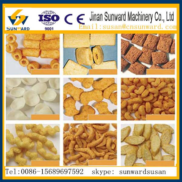 CE certification fully automatic corn snack food machine