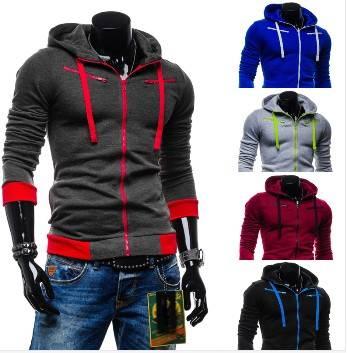 Fashion men casual hoodies mens cardigan with a hood sweatshirt outerwear