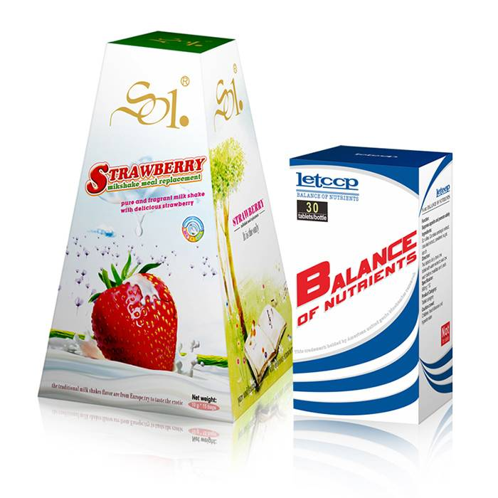 Loss Weight Strawberry Milk Shake Loss 4-8kg a Month