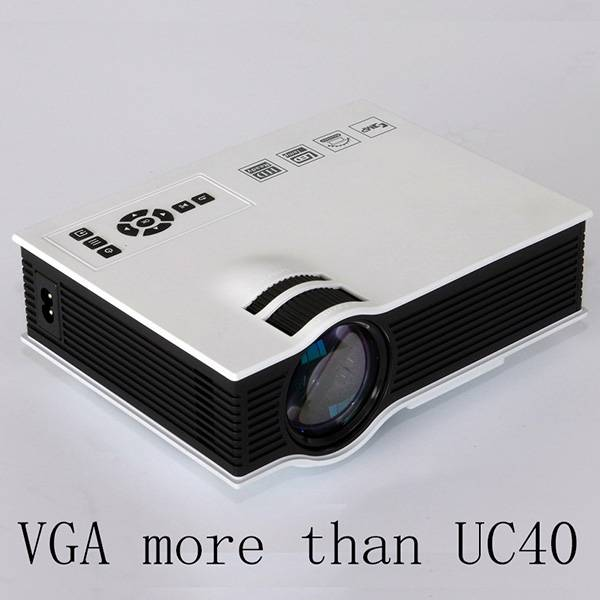 UNIC UC40+ LED Projector, Home Theater Projector With AV USB SD VGA HDMI