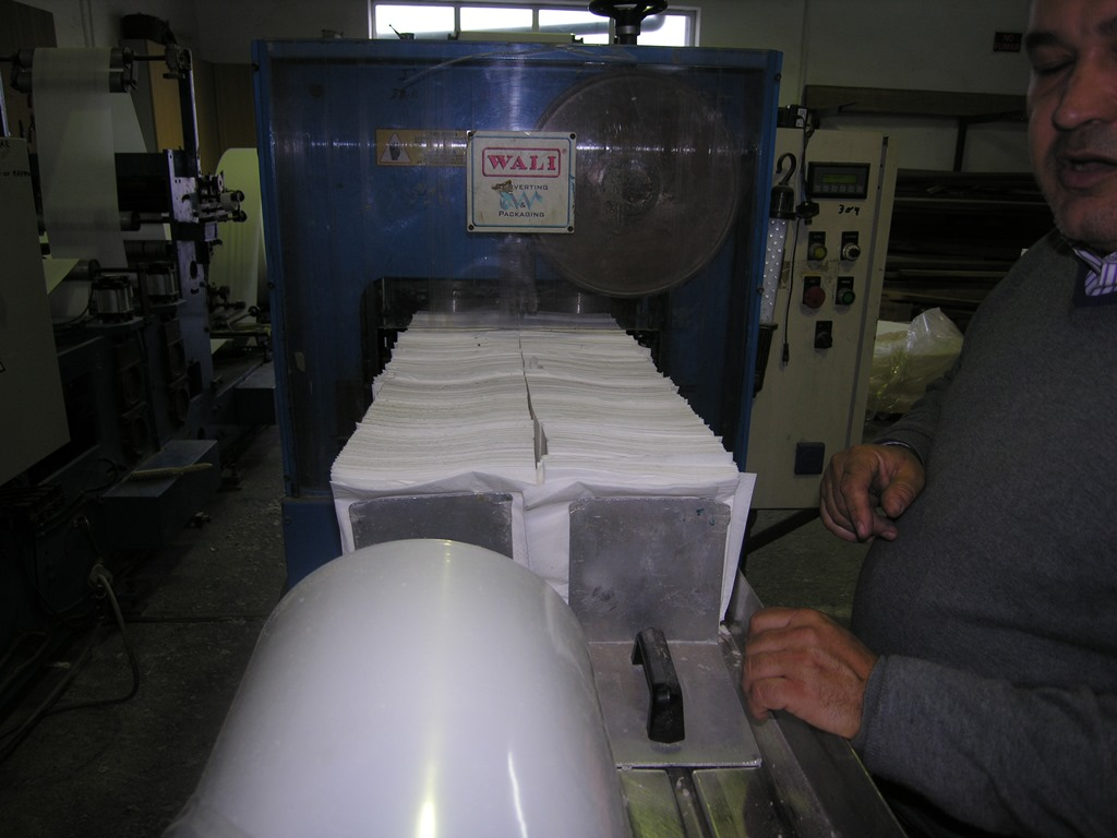 Napkin folding machine