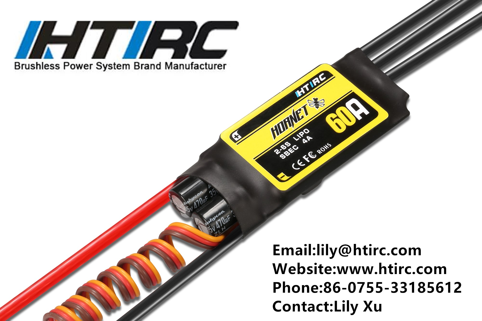 HTIRC Hornet 60A 6s ESC Brushless Electric Speed Controller For RC Airplane
