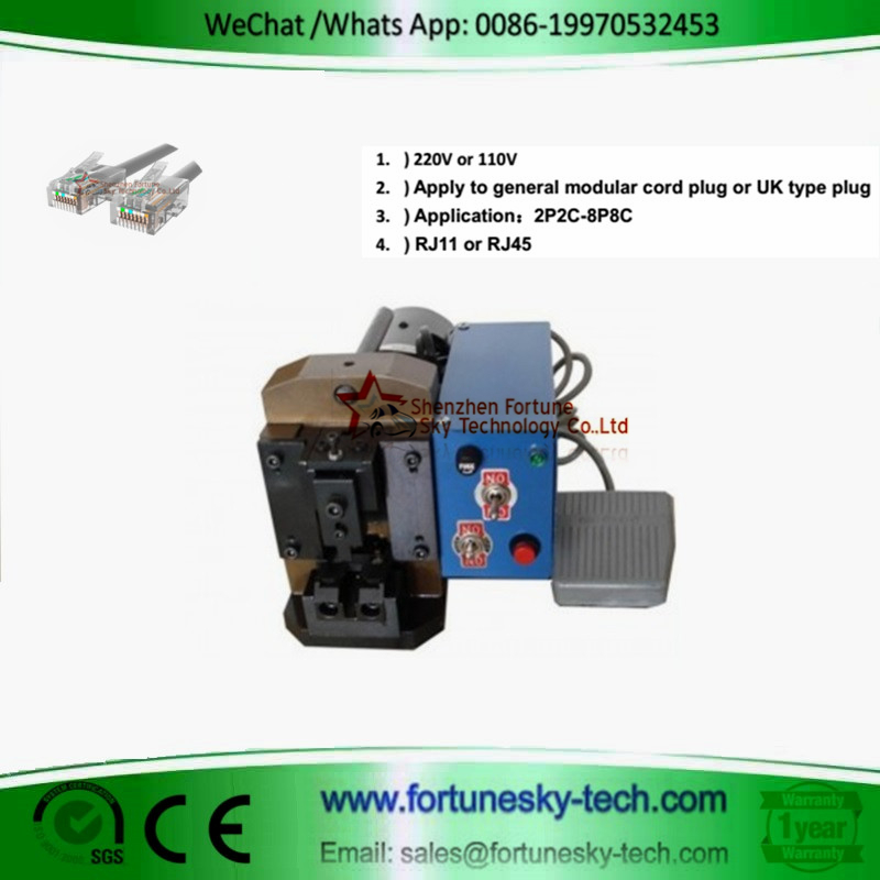 MODULAR PLUG Automatic Terminal Machine / RJ45 Crimping Machine