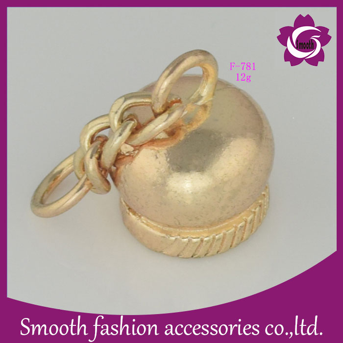 Zinc Alloy Silver Metal Rope Bell Shape End Cord Stopper