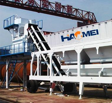 hzs 25 small mobile concrete batching plant