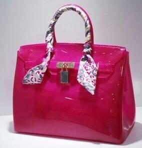 Guangzhou Supplier Fashionable Designer Jelly Ladies Handbag (J-1010)