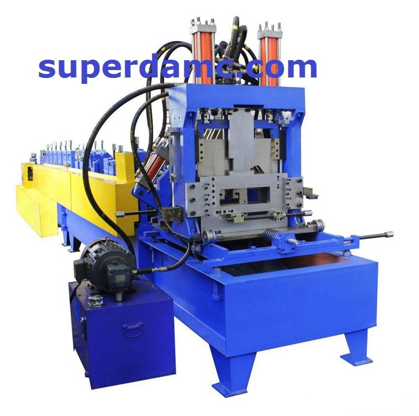 Interchangeable C Z purlin roll forming machine