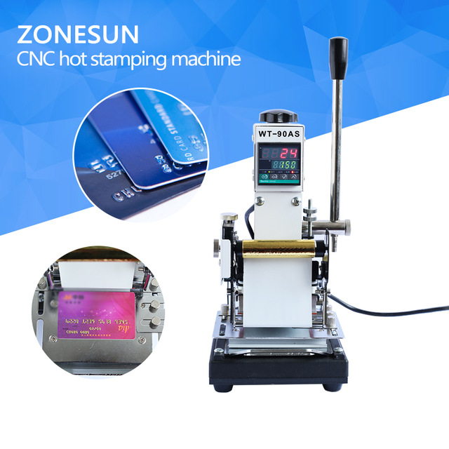 ZONESUN Best Quality 220V/110V Manual Hot Foil Stamping Machine Card Tipper Embossing Machine