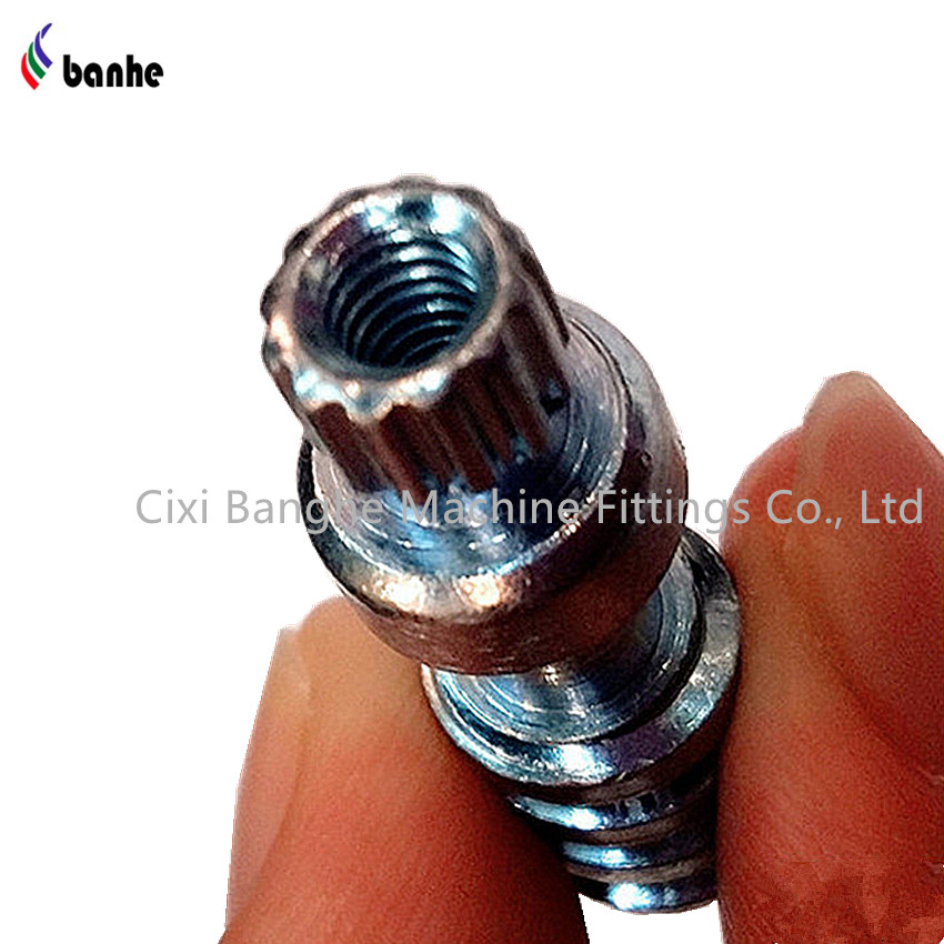 OEM worm gear screw shaft with zinc plated for power transmission