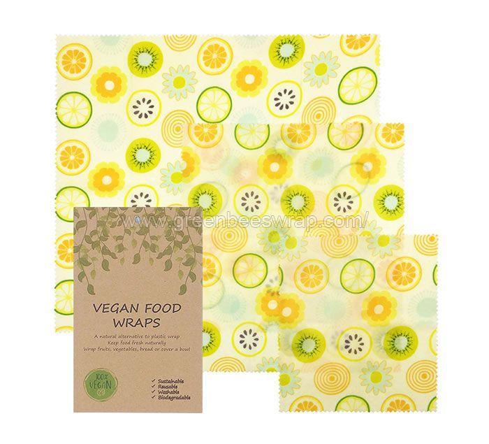 Vegan food wrap assorted 3 pack