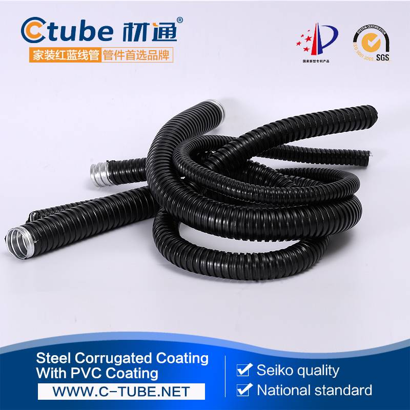 25mm black pvc coated flexible conduit supplier