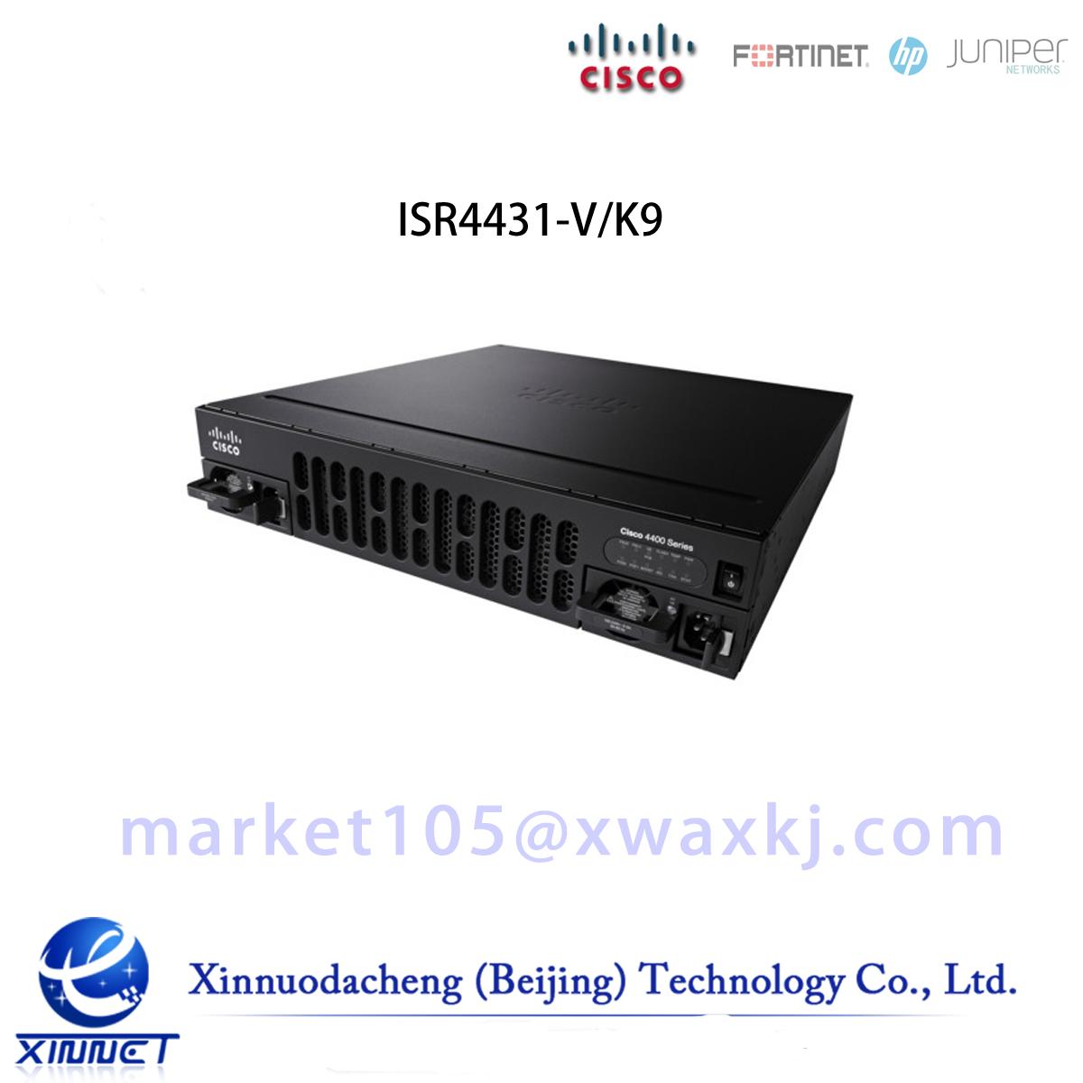 ISR4431-V/K9 Cisco ISR 4431 UC Bundle, PVDM4-64, UC License, CUBE-25