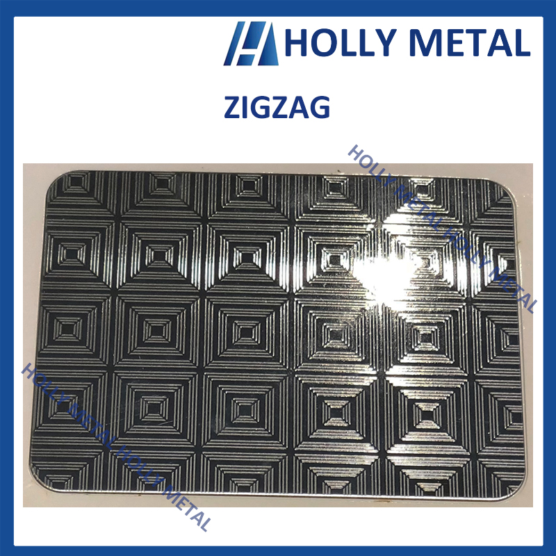 Stainless Steel Decorative Sheet Grade 201 304 (Zigzag)