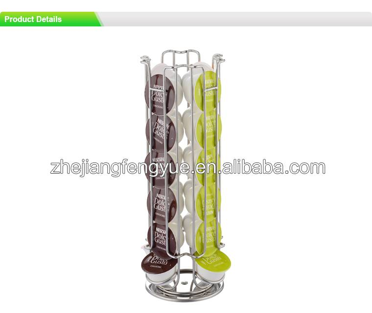 24pcs dolce gusto chrome plating coffee capsule holder