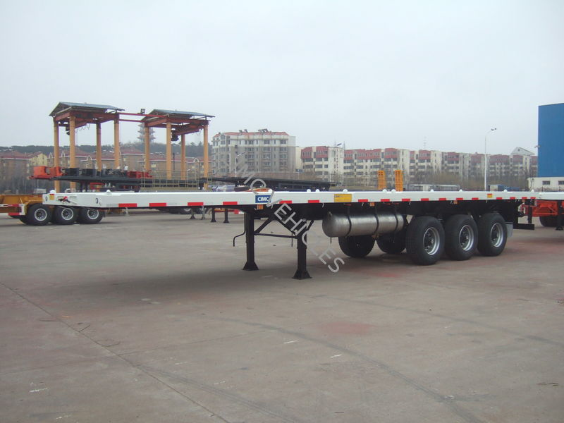 40ft flatbed semi-trailer with single tyres