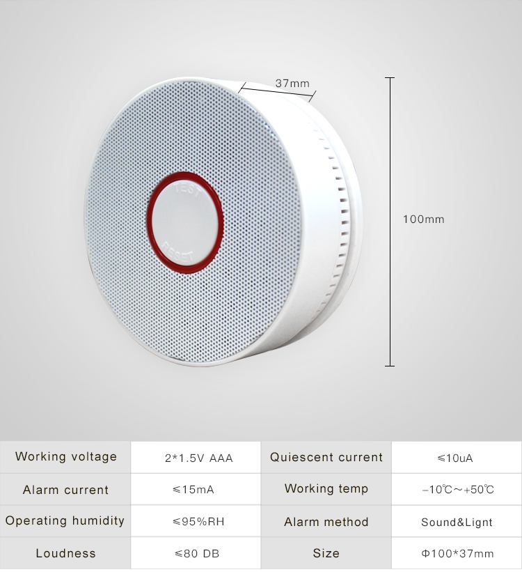Newest home security fire alarm smoke detector