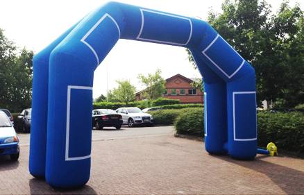 blue large inflatable double arch for promotion