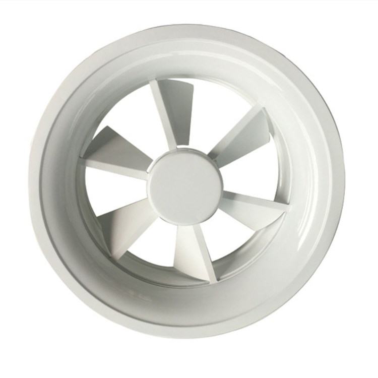 Swirl diffuser air outlet