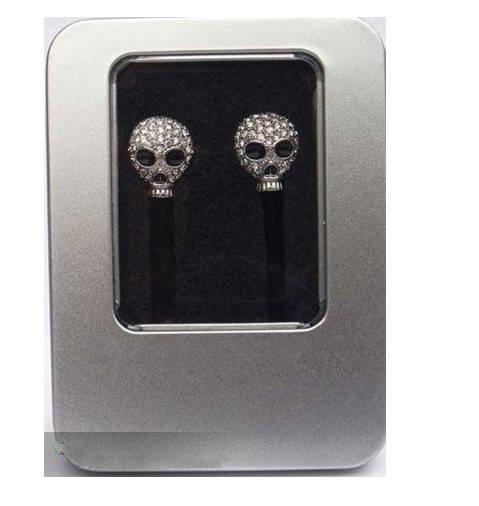 Set auger skull earphones for mp3/laptop/mobipephone/200pcs