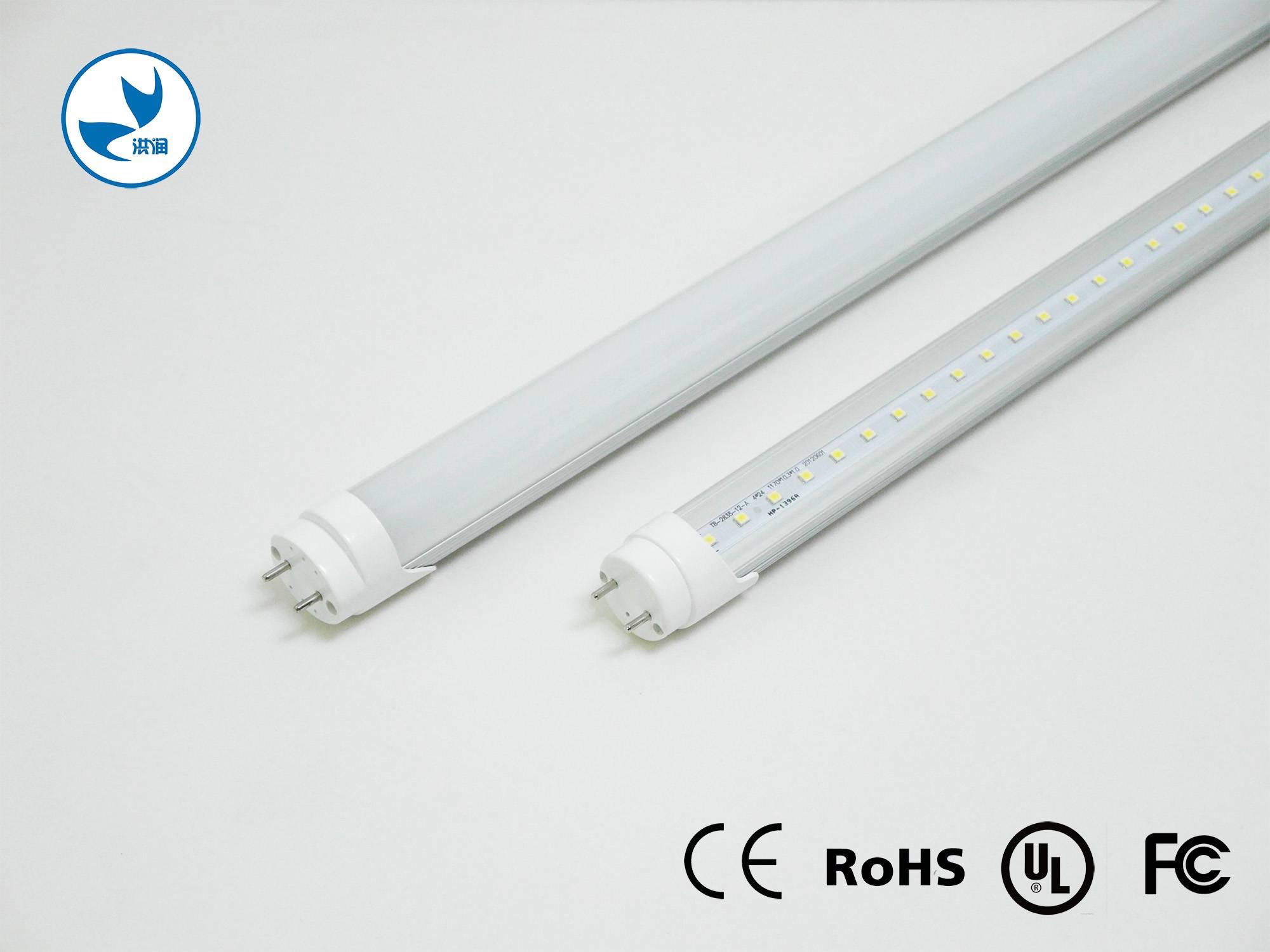 UL DLC CE FCC School/ home/ office/ factory lighting led tube 18 watt 4 foot t8 led tube lights