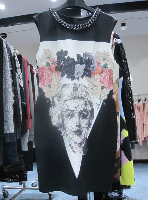 2016 Ladies printing dress