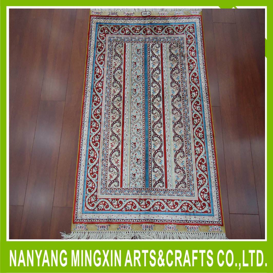 high quality Handmade pure silk carpet/rugs for hotel lobby