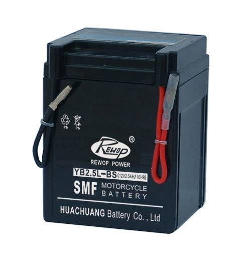 SMF Motorcycle battery, YB2.5L-BS, rechargeable, maintance free, seled lead acid battery, scooter ba