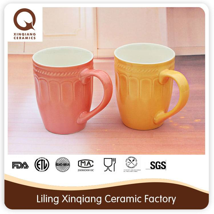 double wall silicone ceramic coffee cup with lid