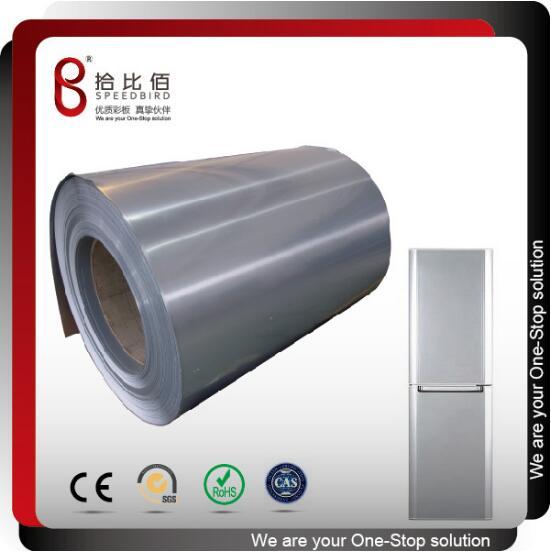 Color pcm vcm steel sheet for refrigerator door panels