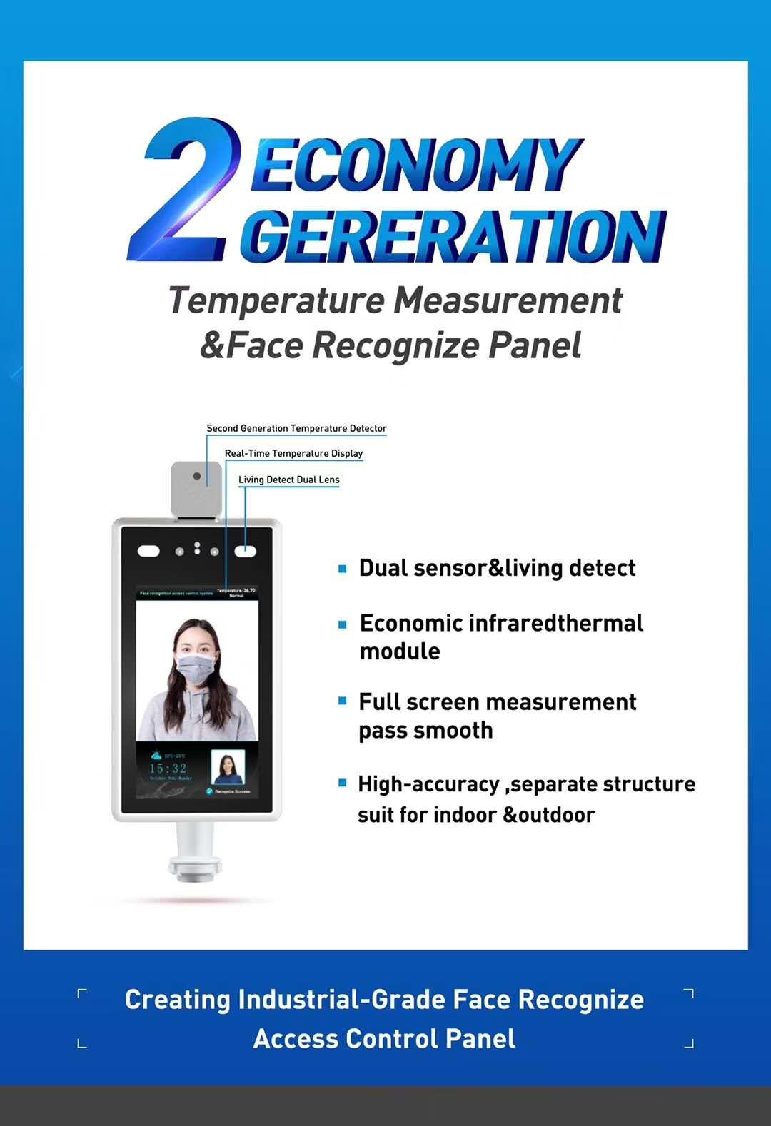 Biometric Face Recognition Software Facial Capture Recognition Camera