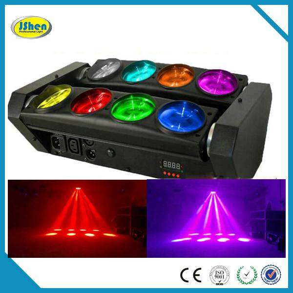 New and hot!8*10watt 4in1 RGBW Cree Led Spider Moving head beam light