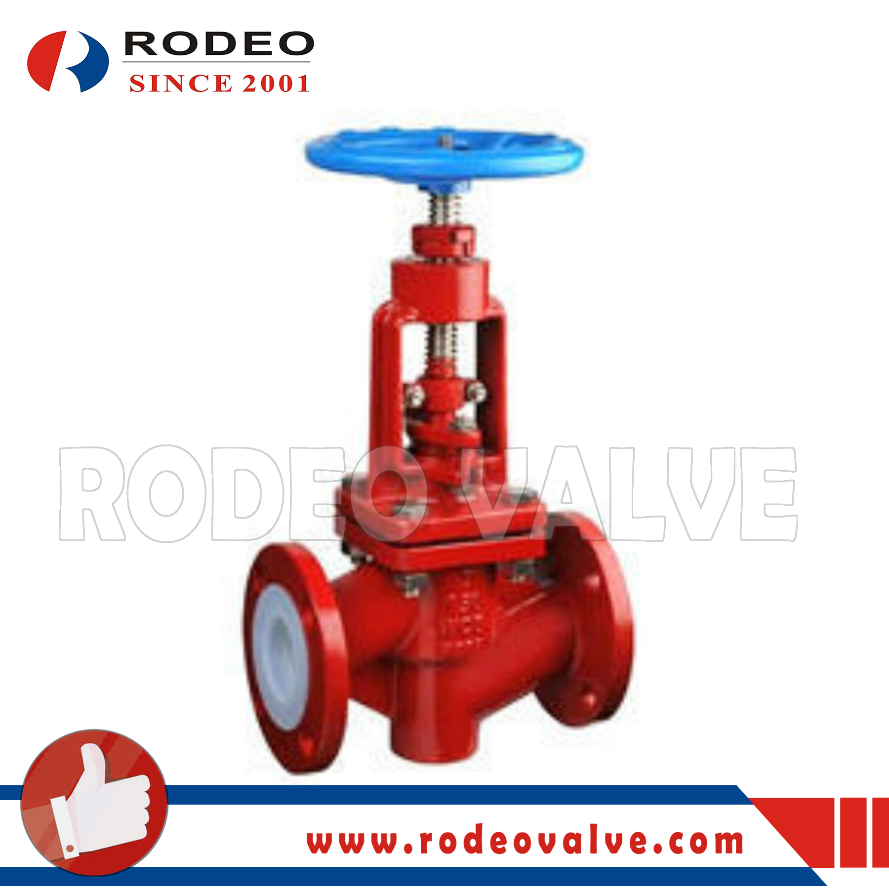 PFA Lined Globe Valve ANSI Chemical