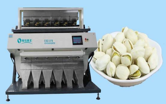 Recyling pistachio Color Sorter Machine with 0.025mm recognition accuracy