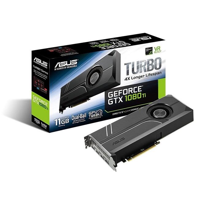 ASUS GeForce GTX 1080 TI 11GB Turbo Edition 5K HD Gaming HDMI DisplayPort PC GDDR5X Graphics Cards