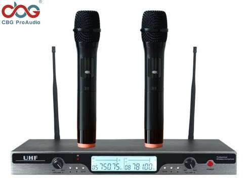 iWP-2160 100 CHN UHF PLL Dual Wireless Microphone